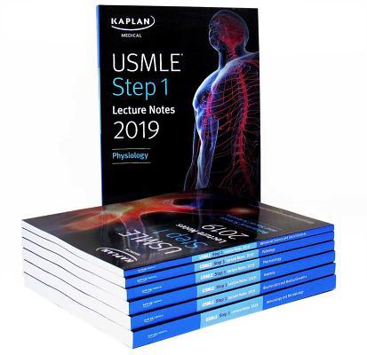 USMLE Step 1 Lecture Notes 2019:  7-Book Set (Kaplan Test Prep) Cover Image