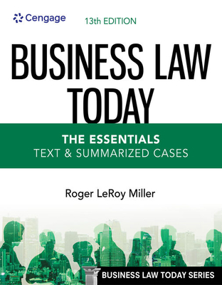 Business Law Today - The Essentials: Text & Summarized Cases Cover Image
