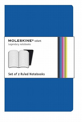 Moleskine Volant Notebook (Set of 2 ), Extra Large, Ruled, Antwerp Blue, Prussian Blue (7.5 x 10) Cover Image