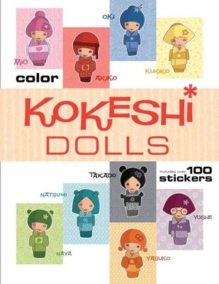 Kokeshi Dolls Coloring Book Cover Image