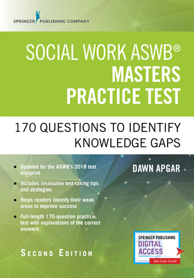 Social Work Aswb Masters Practice Test: 170 Questions to Identify Knowledge Gaps (Book + Digital Access) Cover Image