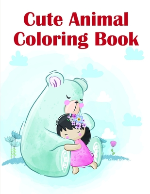 Cute Animal Coloring Book: Christmas Book, Easy and Funny Animal Images (Perfect Gift #19) Cover Image