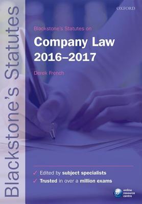 Blackstone's Statutes on Company Law 2016-2017 Cover Image