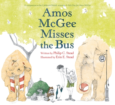 Cover for Amos McGee Misses the Bus
