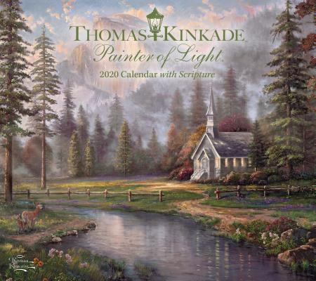 Thomas Kinkade Painter of Light with Scripture 2020 Deluxe Wall Calendar Cover Image