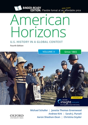 American Horizons: Us History in a Global Context, Volume Two: Since 1865 Cover Image