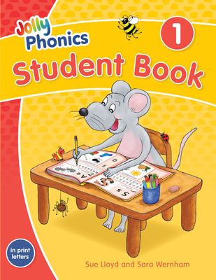 Jolly Phonics Student Book 1: In Print Letters (American English Edition) Cover Image