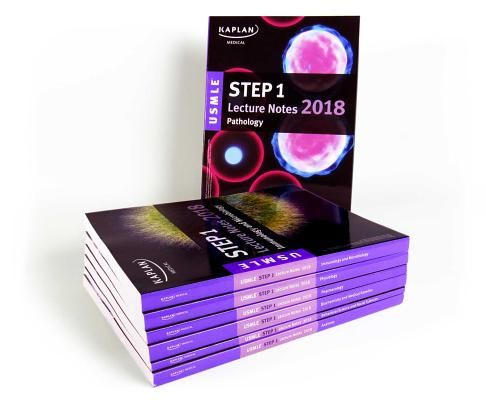 USMLE Step 1 Lecture Notes 2018: 7-Book Set (Kaplan Test Prep) Cover Image