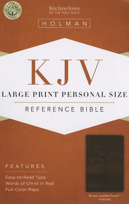 Cover for KJV Large Print Personal Size Reference Bible, Brown LeatherTouch Indexed
