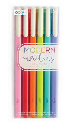 Modern Writers Gel Pens - Set of 6 Cover Image