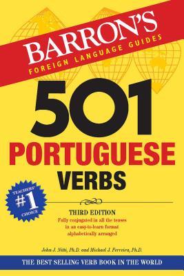 501 Portuguese Verbs (Barron's 501 Verbs) Cover Image