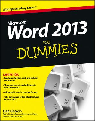 Word 2013 for Dummies Cover