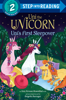 Uni the Unicorn Uni's First Sleepover (Step into Reading) Cover Image