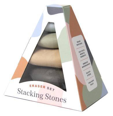 Stacking Stones: Eraser Set (Novelty Gift, Artist Gift, Writer Gift, Stocking Stuffer) Cover Image
