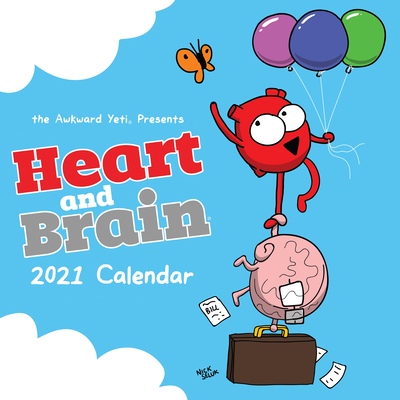 Heart and Brain 2021 Wall Calendar Cover Image
