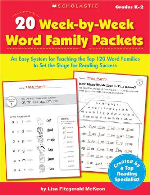 20 Week-by-Week Word Family Packets: An Easy System for Teaching the Top 120 Word Families to Set the Stage for Reading Success Cover Image