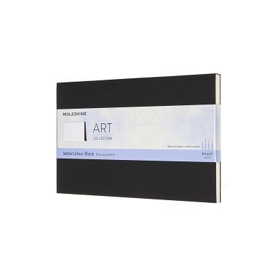 Moleskine Art Watercolor Block, Large, Black (5 x 8.25) Cover Image