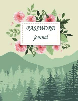 Password Journal: Modern Password Keeper, Vault, Notebook and Online Organizer, Password Log Book with Tabs Alphabetized, Large Print Pa Cover Image
