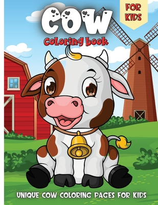 Cow Coloring Book For Kids: Funny Cowes Animals Colouring Pages for Kids Stress Relief and Relaxation, Cow Lover Gifts for Children Cover Image