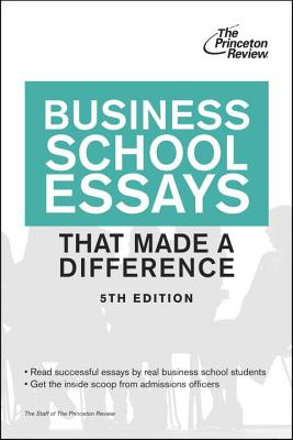 Business School Essays That Made a Difference Cover