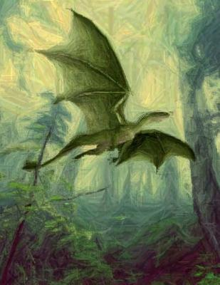 Dragon Notebook Large Size 8.5 x 11 Ruled 150 Pages Softcover Cover Image