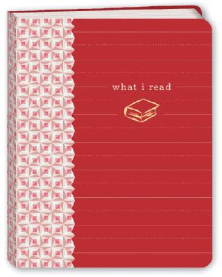 What I Read (Red) Mini Journal Cover Image