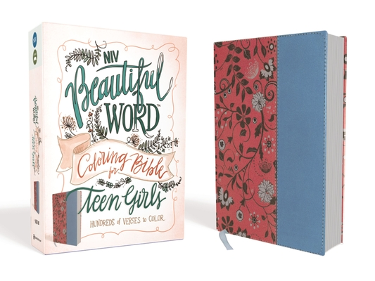 NIV, Beautiful Word Coloring Bible for Teen Girls, Imitation Leather, Pink/Blue: Hundreds of Verses to Color Cover Image