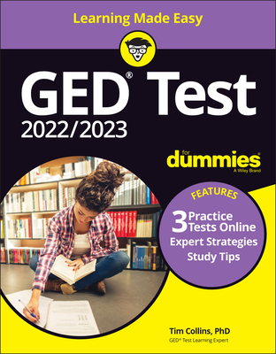 GED Test for Dummies with Online Practice Cover Image