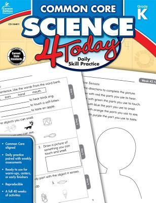 Common Core Science 4 Today, Grade K (Common Core 4 Today) Cover Image