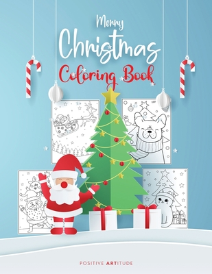 Merry Christmas Coloring Book - Fun Christmas Gift or Present for Kids and Adults Cover Image