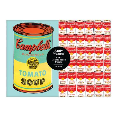 Andy Warhol Soup Can 2-sided 500 Piece Puzzle Cover Image