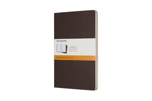 Moleskine Cahier Journal, Large, Ruled, Coffee Brown (5 x 8.25) Cover Image