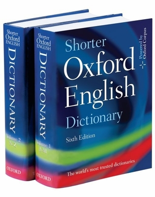 Shorter Oxford English Dictionary [With CDROM] Cover