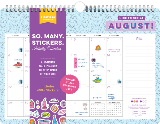 Cover for So. Many. Stickers. Activity Calendar 2021-2022