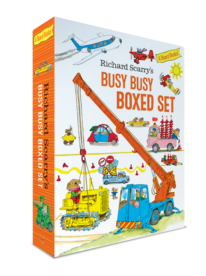 Richard Scarry's Busy Busy Boxed Set: Busy Busy Airport; Busy Busy Cars and Trucks; Busy Busy Construction Site; Busy Busy Farm (Richard Scarry's BUSY BUSY Board Books) Cover Image