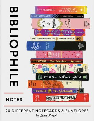 Bibliophile Notes: 20 Different Notecards & Envelopes (Notecards for Book Lovers, Illustrated Notecards, Stationery) Cover Image