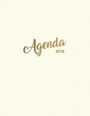 Agenda 2019: Semanal Diario Organizador Calendario Crema de Lim Cover Image