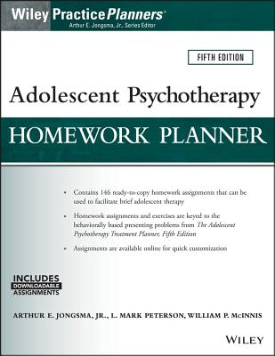 Adolescent Psychotherapy Homework Planner (PracticePlanners) Cover Image
