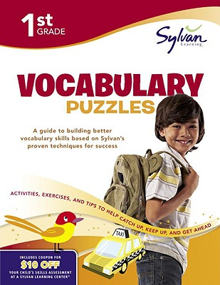 First Grade Vocabulary Puzzles (Sylvan Workbooks) Cover