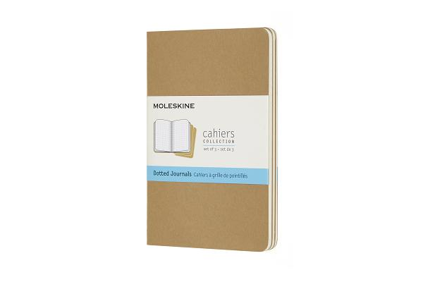 Moleskine Cahier Journal, Pocket, Dotted, Kraft Brown (3.5 x 5.5) Cover Image