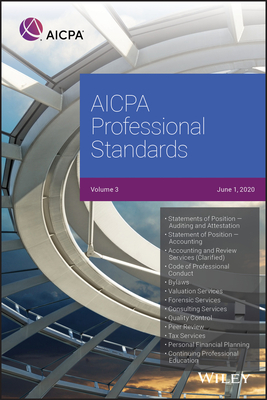 AICPA Professional Standards, 2020, Volume 3 Cover Image