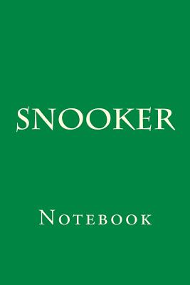 Snooker: Notebook Cover Image