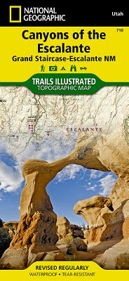 Canyons of the Escalante [Grand Staircase-Escalante National Monument] (National Geographic Trails Illustrated Map #710) Cover Image