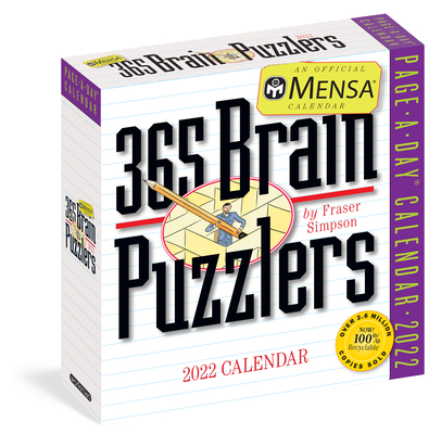 Cover for Mensa 365 Brain Puzzlers Page-A-Day Calendar 2022