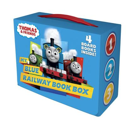 My Blue Railway Book Box (Thomas & Friends) (Bright & Early Board Books(TM)) Cover Image