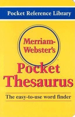 Merriam-Webster's Pocket Thesaurus (Pocket Reference Library) Cover Image