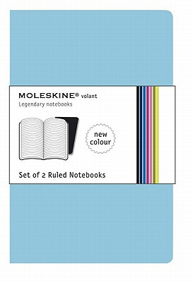 Moleskine Volant Notebook (Set of 2 ), Extra Large, Ruled, Sky Blue (7.5 x 10) (Volant Notebooks) Cover Image