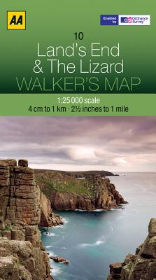 Walker's Map Lands End & The Lizard Cover Image