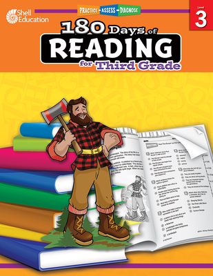 180 Days of Reading for Third Grade: Practice, Assess, Diagnose (180 Days of Practice) Cover Image