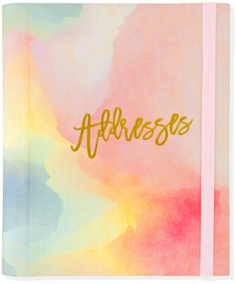 Watercolor Sunset Large Address Book Cover Image